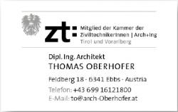 Architektur und Projektentwicklung Architekt Dipl.Ing. Thomas Oberhofer